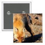 Red Fox Habitat Square Pin