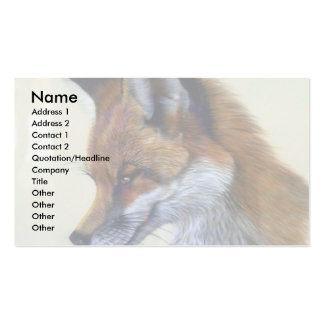 Red Fox (head study) Double-Sided Standard Business Cards (Pack Of 100)