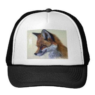 Red Fox (head study) Trucker Hats
