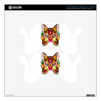 Red Fox Head  Stylized Drawing PS3 Controller Decal