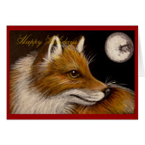 RED FOX HOLIDAY Card