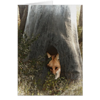 Red Fox in a Tree Gifts and Apparel Card