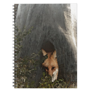 Red Fox in a Tree Gifts and Apparel Spiral Notebook