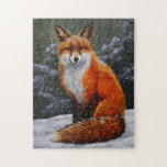 Red Fox in Falling Snow Jigsaw Puzzle