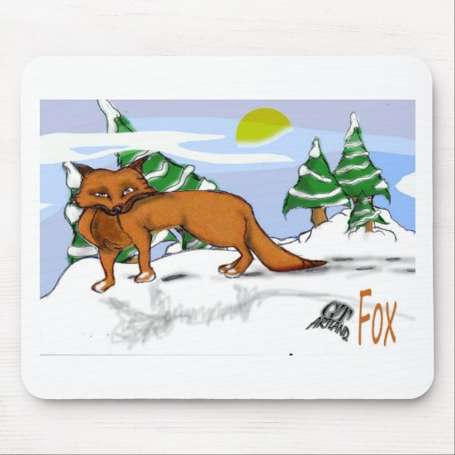 Red Fox in the Snow Mouse Pad