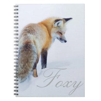 Red Fox in Winter Spiral Notebook