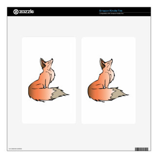 Red Fox Kindle Fire Skin