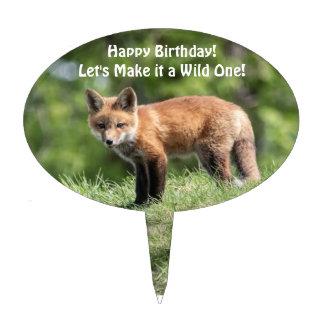 Red Fox Kit Cake Topper