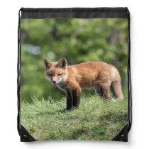 Red Fox Kit Drawstring Bag