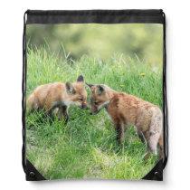 Red Fox Kits Drawstring Backpack