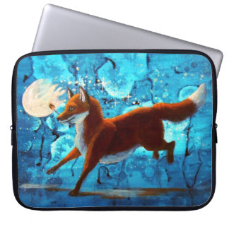 Red Fox Kitsune Surreal Fantasy Night Sky Computer Sleeve