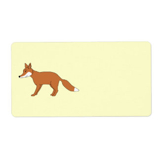 Red Fox. Label