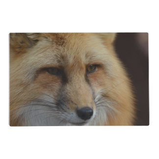 Red Fox Laminated Place Mat