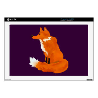 Red Fox Laptop Decal