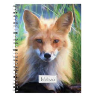 Red Fox Laying in the Grass Scenic Personalized Spiral Notebook