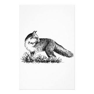 Red Fox (line art) Stationery
