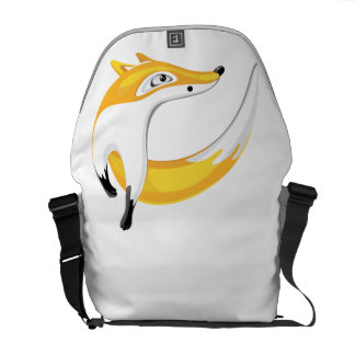 Red Fox, Looking Away Courier Bag