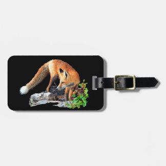 Red fox bag tag