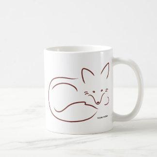 Red Fox Classic White Coffee Mug