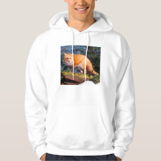 Red Fox on a log Hoodie