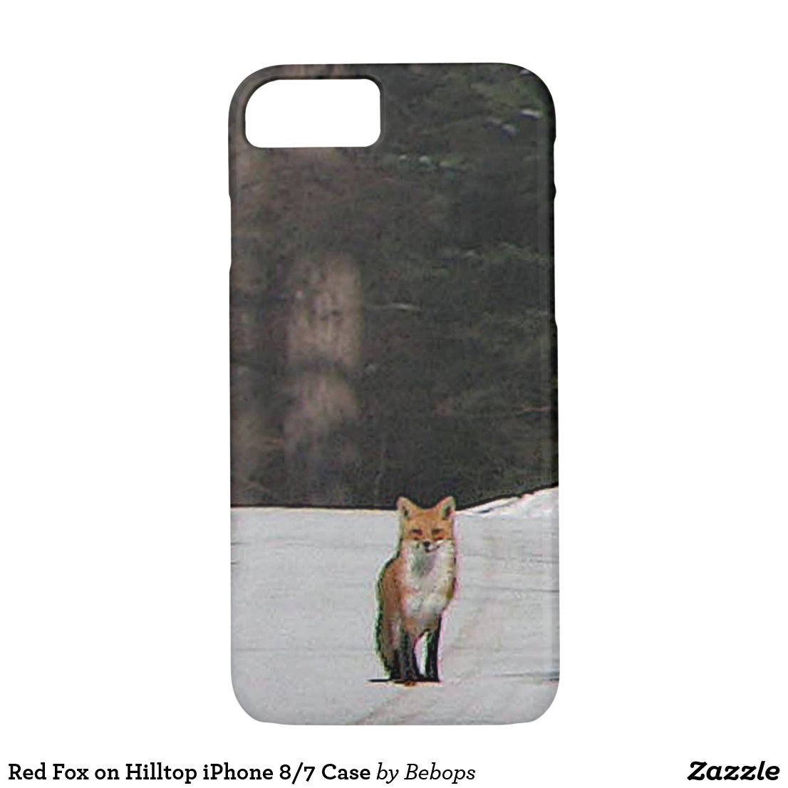 Red Fox on Hilltop iPhone 7 Case