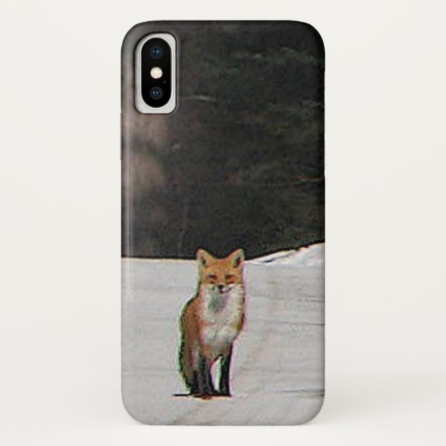 Red Fox on Snowy Hilltop iPhone X Case