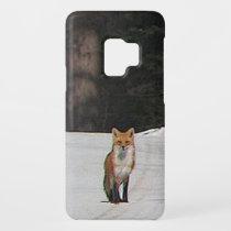 Red Fox on Winter Hilltop Galaxy S9 Case