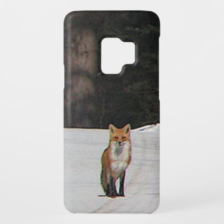 Red Fox on Winter Hilltop Galaxy S9 Case