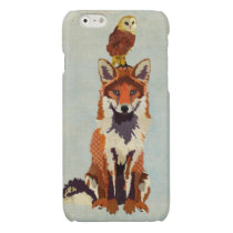 Red Fox & Owl Glossy iPhone 6 Case
