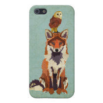 Red Fox & Owl iPhone Case