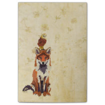Red Fox & Owl Post It Note