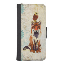 Red Fox &  Owl Wallet Case
