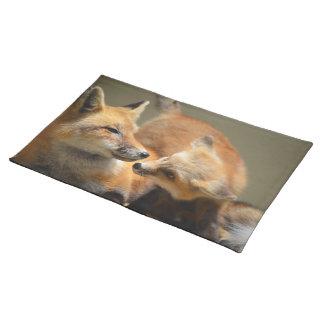 Red Fox Pair Cloth Place Mat