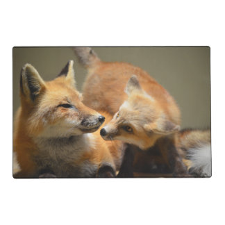 Red Fox Pair Laminated Place Mat