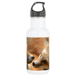 Red Fox Pair 18oz Water Bottle