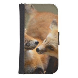 Red Fox Pair Phone Wallet Case