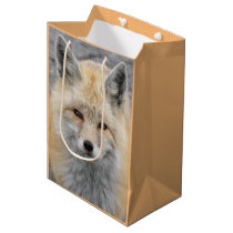 Red Fox Photo Medium Gift Bag