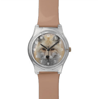 Red Fox Photo Wristwatch