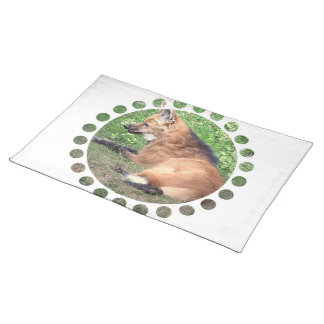 Red Fox Pictures Placemat Cloth Placemat