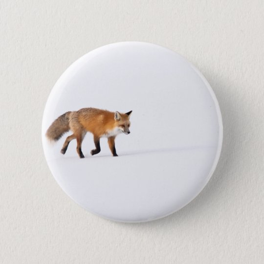 Red Fox Pinback Button
