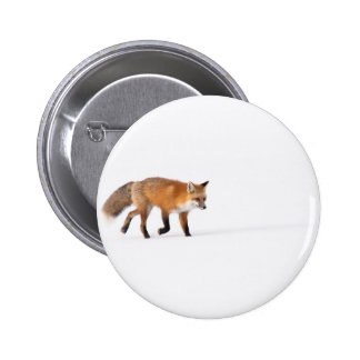 Red Fox Pinback Button