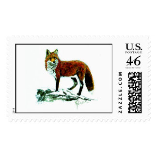 Red Fox Postage Stamp