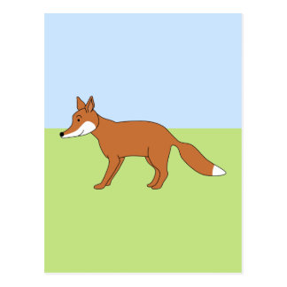 Red Fox. Postcard