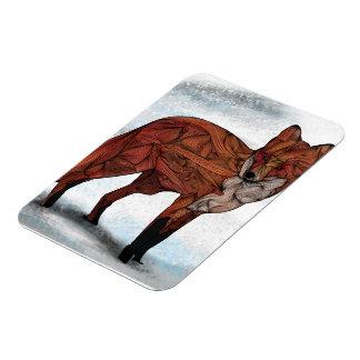 Red fox premium magnet