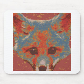 Red Fox Print Mouse Pad