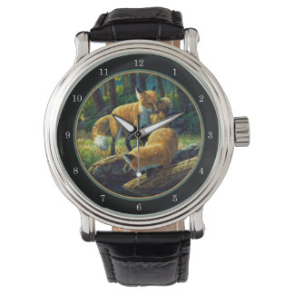 Red Fox Pups Playing Watches