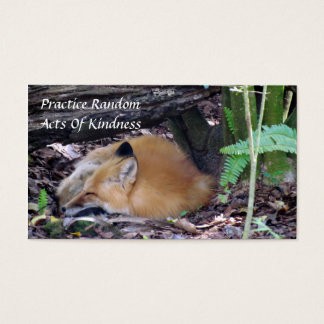 Red Fox Random Acts of Kindness Card