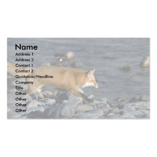 Red Fox running beside river Double-Sided Standard Business Cards (Pack Of 100)