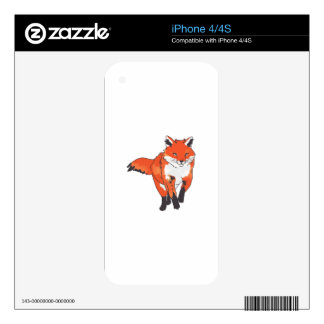 RED FOX SKIN FOR THE iPhone 4S