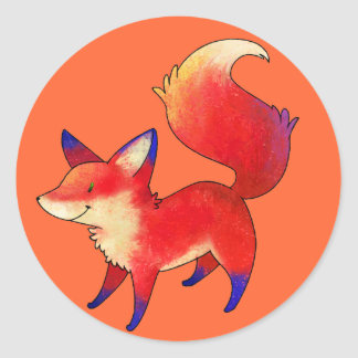 Red Fox Small Stickers